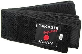 japonais obi-belt Thailandaise FLEXI' Kuro ' OBI Ceinture IAIDO Kendo, Aïkido CEINTURE NOIRE Takashi JAPON SIGNATURE gamme - 400cm x 8cm simple confortable cravate