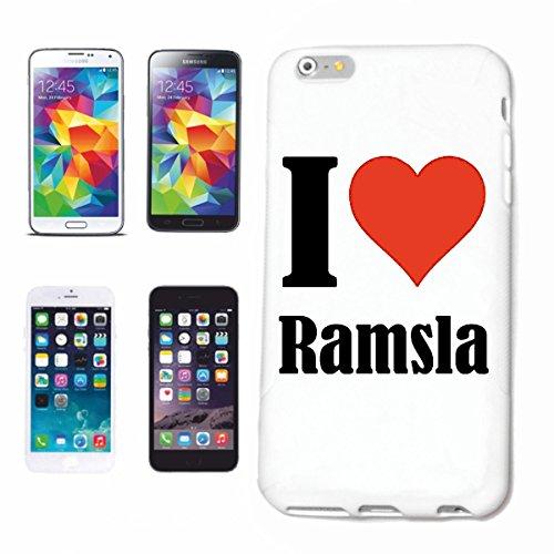 """Handyhülle iPhone 4 / 4S """"I Love Ramsla"""" Hardcase Schutzhülle Handycover Smart Cover für Apple iPhone … in Weiß … Schlank und schön, das ist unser HardCase. Das Case wird mit einem Klick auf deinem Sm"""