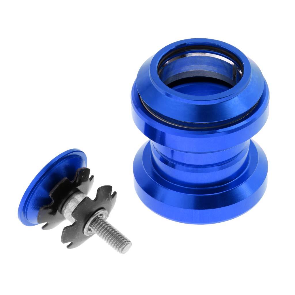Baoblaze Cojinete de Bicicleta de Carretera de Aleación de Aluminio con Tapa Superior 34 mm - Azul, Tal como se Describe