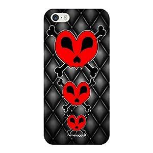 HomeSoGood Gothic Dangerous Love Black 3D Mobile Case For iPhone 5 / 5S (Back Cover)