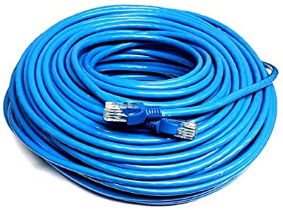 Blue 150 FT Foot 45M Cat5e Patch Ethernet LAN Network Router Wire Cable Cord NEW