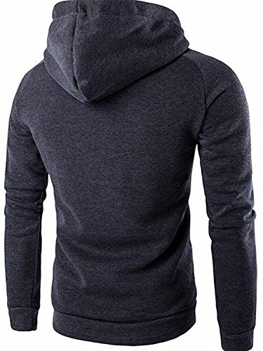 Toping Fine Handsome Men's Casual Floral Print Sleeves Hoodies Sweater Pullover Dark GreyUS M=China L by Toping Fine novelty-hoodies