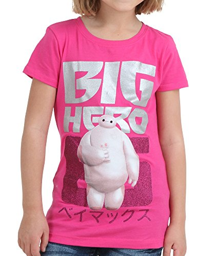 Disney's Big Hero 6 Six Girl's T-Shirt - Raspberry (5/6) (Disney Movie Big Hero 6)