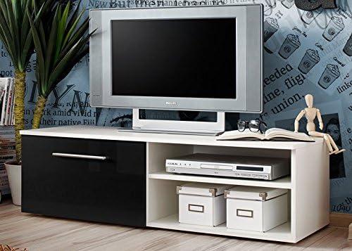 Lowboard Mueble bajo Mesa de televisión RTV TV Tarjeta Armario Aparador Altea con Brillante TV – Banco 120 x 45 x 37 Phono Muebles Blanco Negro Ciruela wengué 21: Amazon.es: Juguetes y juegos
