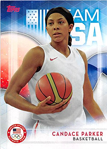 Candace Parker basketball card (United States Olympic Team WNBA University of Tennessee Lady Vols) 2016 Topps #5 (Parker Autographed Card)