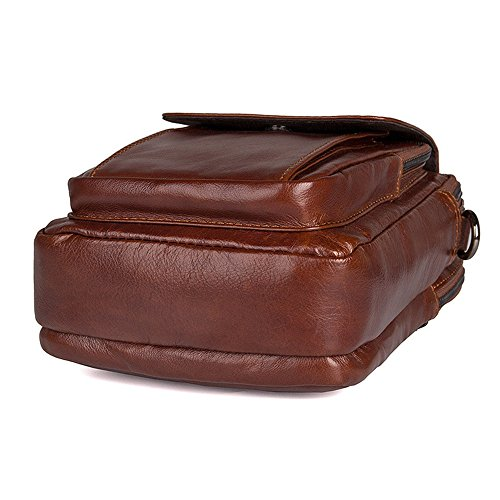 Crossbody Satchel maletín Hombres de Trabajo los Bolsa Correa de Viaje Ajustable Hombro de y de Jxth Cuero Mensajero para la la de Vendimia el Bolsa Escuela Viaje de Uso Diario Viaje Ajustable la de dR1qOp0
