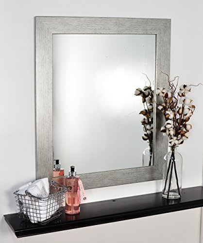 BrandtWorks Stainless Grain Wall Mirror, 22