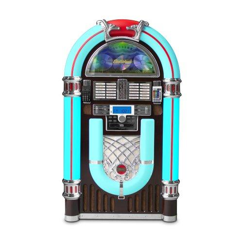 Electrohome Kinsman Jukebox with CD Player, FM Radio, USB & SD Playback and MP3 Input – EAJUK500 Top Price