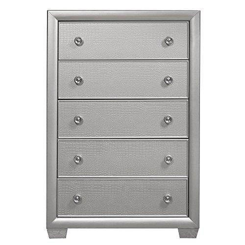 Pulaski - 8960-040 - Celestial Drawer Chest Silver 8960-040