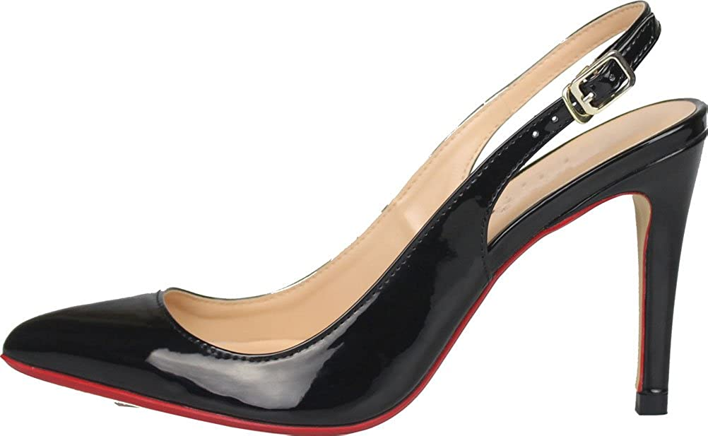 SHUT Damen UP Damen SHUT Slingback Schwarz fa6c42