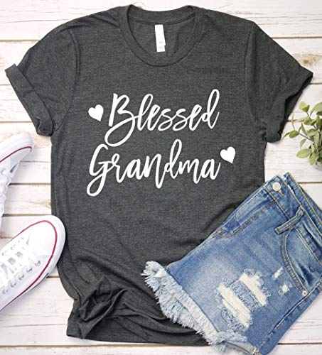 Blessed Grandma Shirt, Grandma T-Shirt, Mother Mom Long Sleeve, Short Sleeve, V-Neck, Sweatshirt, Hoodie