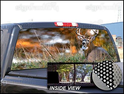 Amazon.com: Pegatina para ventana trasera de caza de ciervo ...