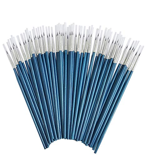 [60 Pack] Pointed Round Painting Brush,Hand Made Thread Drawing Brush,Detail Paint Brush for Acrylic, Oil and Watercolor (S(#0)) by Sunny