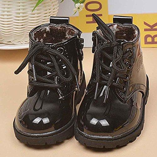 Jamicy® Winter Schuhe Mode Army Style Martin Stiefel Winter warme Babyschuhe Schwarz