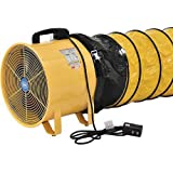 16 Portable Ventilation Fan With 32 Flexible Ducting