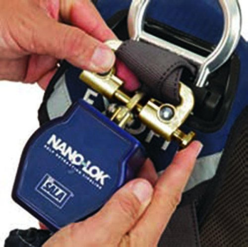 3M DBI-SALA Nano-Lok 3101279 Tie Off Self Retracting Lifeline, 6', 3/4'' Dynema Polyester Web, and Snap Hooks, Quick Connector For Harness Mounting, Blue by 3M Fall Protection Business (Image #4)