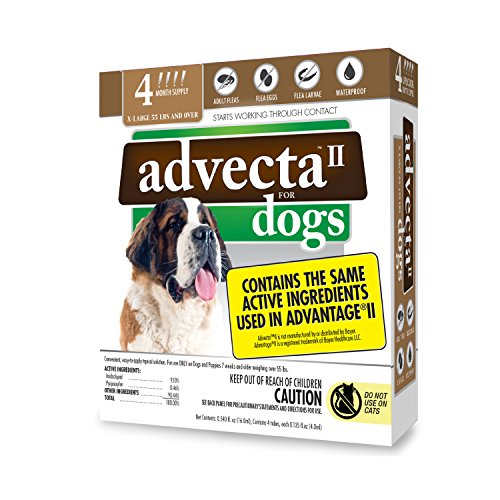Advecta II Flea Treatment  Flea and Lice Prevention for Dogs 4 Month Supply