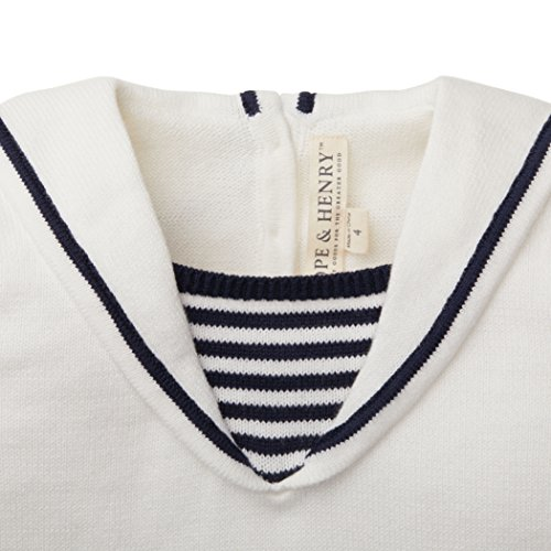 Hope and Henry Girls White Sailor Sweater Top Made With Organic Cotton by Hope & Henry (Image #2)