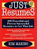 Just Resumes, Kim Marino, 0471165670