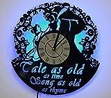 Night Light, LED Light, Wall Lamp, Beauty and the Beast Wall Clock, Cool Nursery Wall Art Decor For Sale