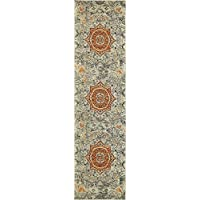 Unique Loom Arte Collection Gray 3 x 10 Runner Area Rug (2 7 x 10)