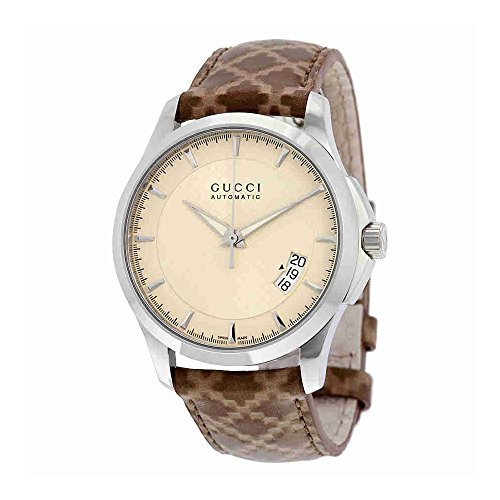 Gucci Men's YA126421 Timeless Brown/Ivory Stainless Steel Watch