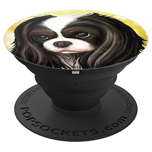 Cavalier King Charles Spaniel Tricolor, Dog mom, Dad gift - PopSockets Grip and Stand for Phones and Tablets