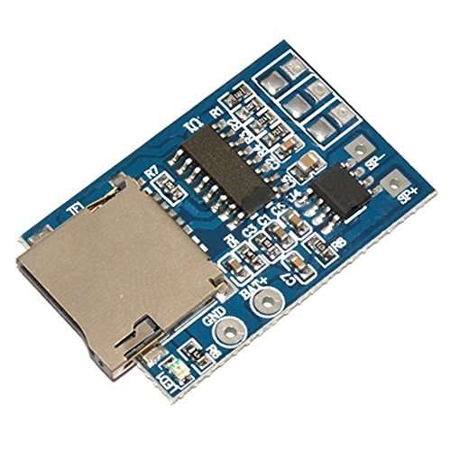 SODIAL(R) 1x GPD2846A TF Card MP3 Decoder Board 2W Amplifier Module for Arduino Blue