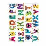 How Large Is a King Bed QH Alphabet&Monster Print Super Soft Throw Blanket for Bed Couch Sofa Lightweight Travelling Camping 58 x 80 Inch Throw Size for Kids Boys Women