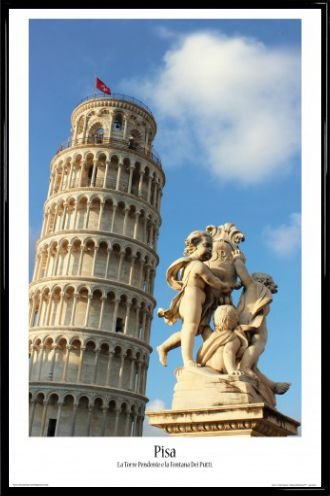 Amazon.com: 1art1 Pisa Poster and Frame (Plastic) - The ...
