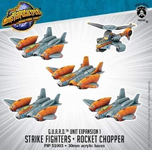 Monsterpocalypse: Protector G.U.A.R.D. Unit - Strike Fighters & Rocket Chopper (Resin)