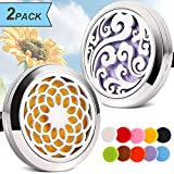 Best Car Diffusers - 2PCS Aromatherapy Essential Oil Car diffuser Vent Clip Review