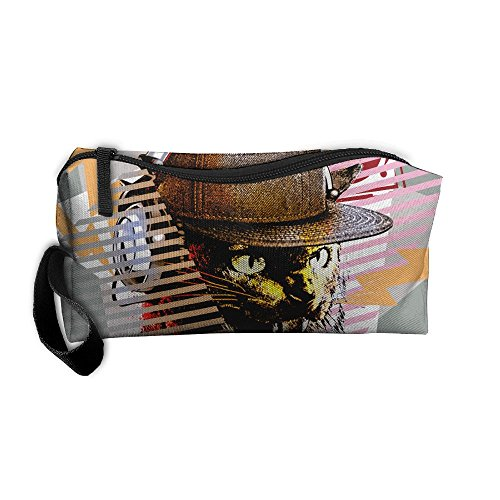 HSs4AD DJ Music Cool Cat With Sunglass Headset Novelty Cosmetic Travel Toiletry Makeup Bag Portable Pouch Hanging Organizer - Wish Sunglasses Headset