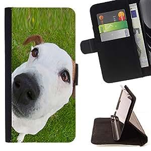 Momo Phone Case / Flip Funda de Cuero Case Cover - Jack Russell Mutt Mestizo Perrito blanco; - Samsung Galaxy S6 Edge Plus / S6 Edge+ G928
