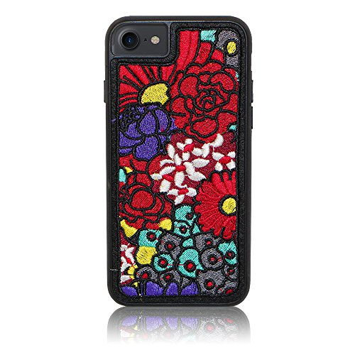 Xtra-Funky Range iPhone 6 / 6s PLUS Embroidery Stitched Bouquet Flowers Slim Silicone (Funky Embroidery Designs)