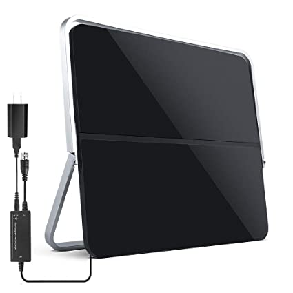 120 Miles Range HD Antenna with Amplifier Signal Booster and 13FT Coaxial Cable Extremely High Reception 2019 Upgraded】 HDTV Antenna Indoor Digital TV Antenna