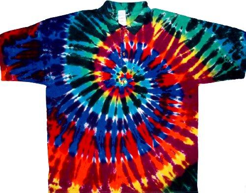 Tie Dyed Shop Extreme Rainbow Golf Tie Dye - Grateful Heavyweight Dead T-shirt
