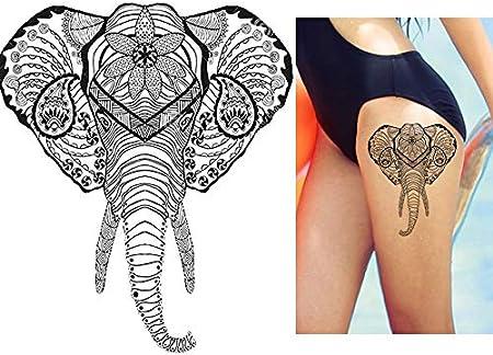 Tattoo adhesivo elefante falso tatuaje Tattoo Desechables para ...