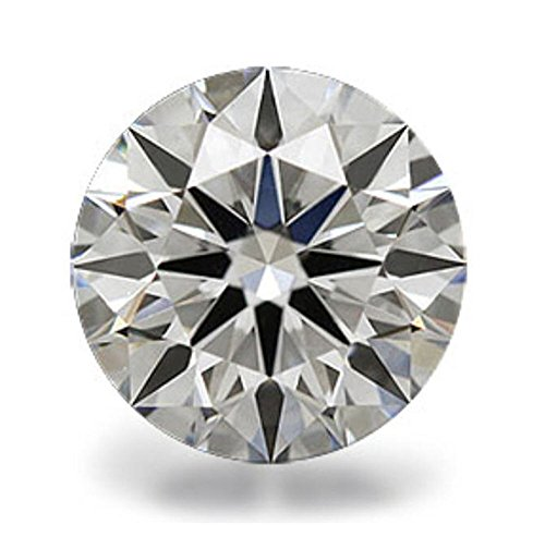Venetia Top Grade Realistic Hearts and Arrows Cut Round Loose NSCD Simulated Diamond 1 2 3 4 Carats Different Sizes Super Sparkling White Fire (9mm, 2.5 (Brilliance Diamond Cut Glass)
