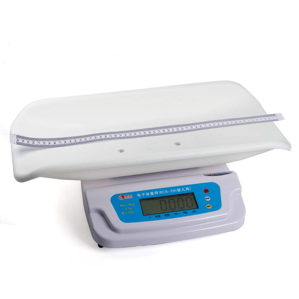 MMZZ Digital Scale Baby Precision Digital Scale, Height and Weight Measurement, Ergonomic Tray Design, Led Display Function, 100g-20kg (0.22lb-44lb) by MMZZ