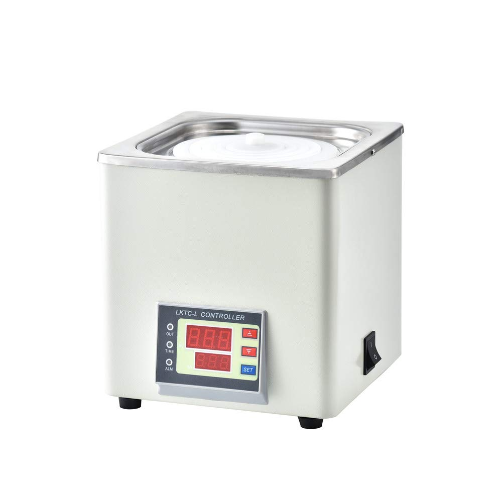 ETE ETMATE Digital Thermostatic Water Bath Lab Water Bath, Precision Temperature Control Water Bath Laboratory Thermostatic Water Bath with Timing Function RT to 100℃ (Single Chamber, 110V)