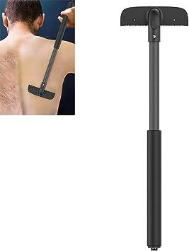 Afeitadora Corporal Hombres Back Shaver Manual Ajustable Volver Cabello Cuchilla Recortadora Mango Largo Grande Retiro del Maquinilla de Afeitar: Amazon.es: Salud y cuidado personal