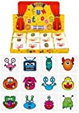 Monsters Temporary Tattoos for Children 24 Assorted Designs Perfect Party Bag Filler & Gift Idea for Children (Pack of 24)