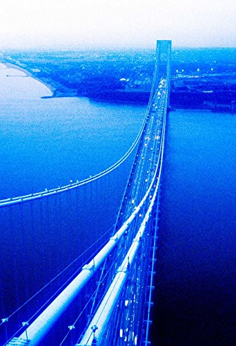 (Suspension Bridge Over The sea, Verrazano-Narrows Bridge, New York Harbor, New York City, New York State, USA by Panoramic Images Art Print, 34 x 50 inches)