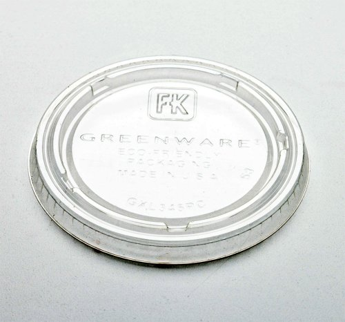 4 Oz. Biodegradable PLA Corn Plastic Portion Cup Lids Made in USA (Pack of 125)