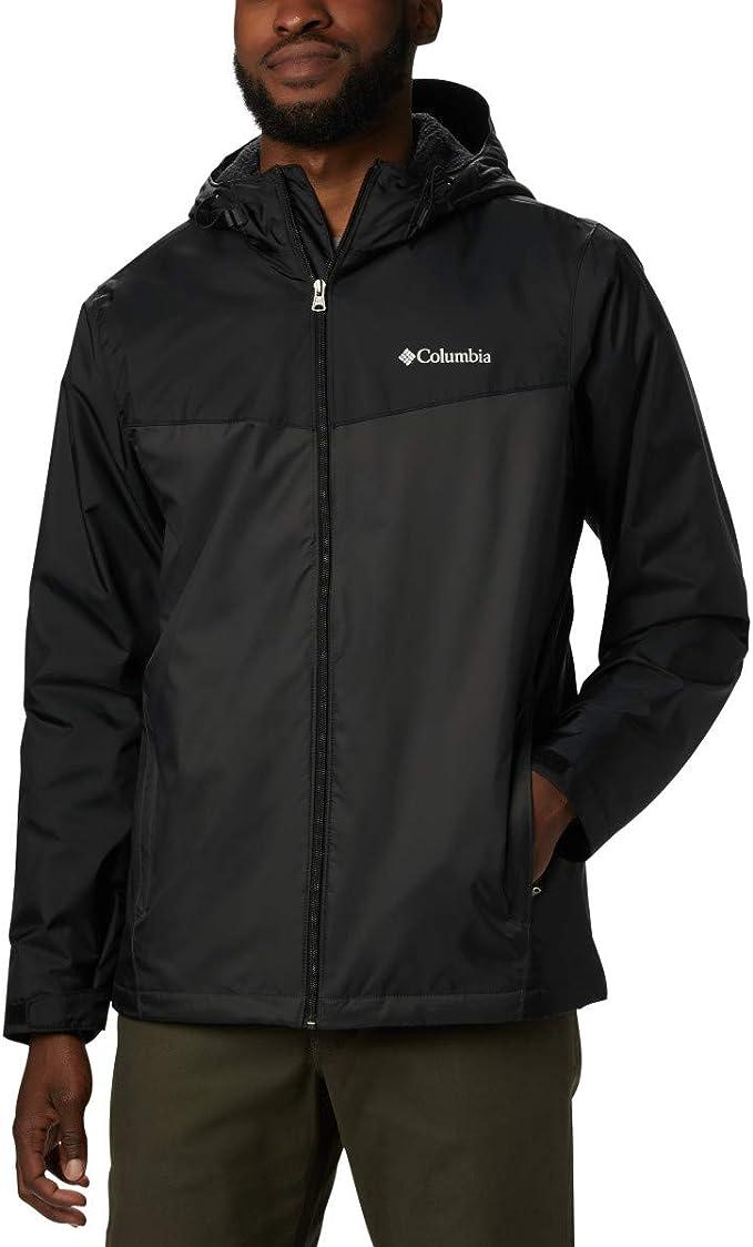 Columbia 哥伦比亚 Glennaker Sherpa Lined 仿羊羔绒衬里 男式连帽雨衣夹克 4折$39.98 海淘转运到手约¥337