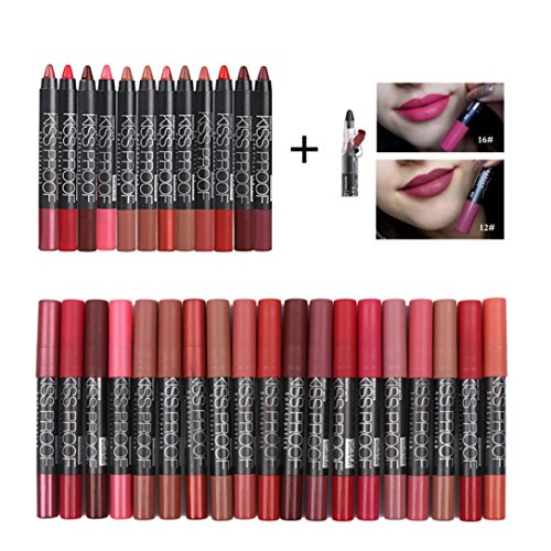 Price comparison product image Ourhomer Menow Waterproof Solf Kiss Proof Lipstick Long Lasting Makeup Lip Gloss Pencil Sharpen Cosmetic Gloss Party (C)
