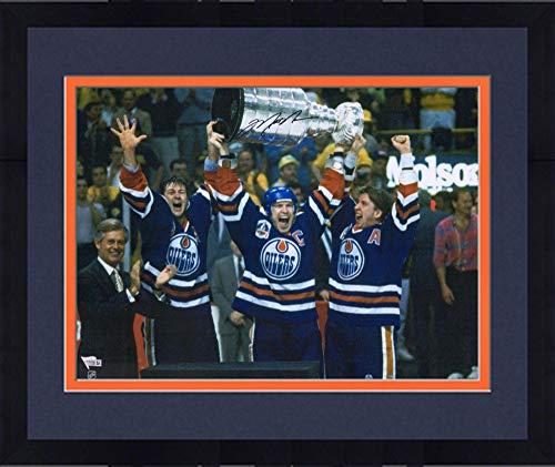 Mark Messier Autographed Oilers - Framed Mark Messier Edmonton Oilers Autographed 16