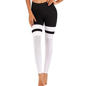 GJFeng Nueva Ropa De Yoga Malla Femenina Costura Pantalones ...