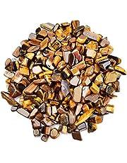 June&Ann Tumpped Chips Stone, 0.45 كجم رقائق الأحجار الكريمة قطع مجحمة غير منتظمة الشكل أحجار كريستال لصنع المجوهرات والديكور المنزلي